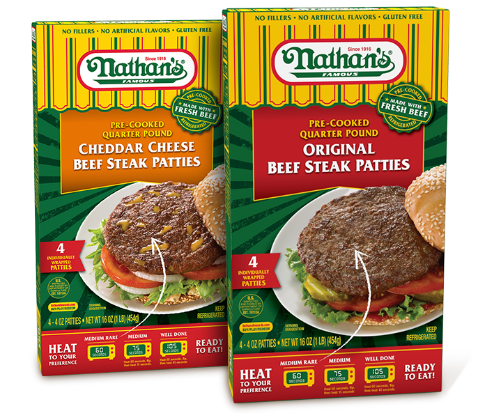 Nathan's Famous Steak Patties