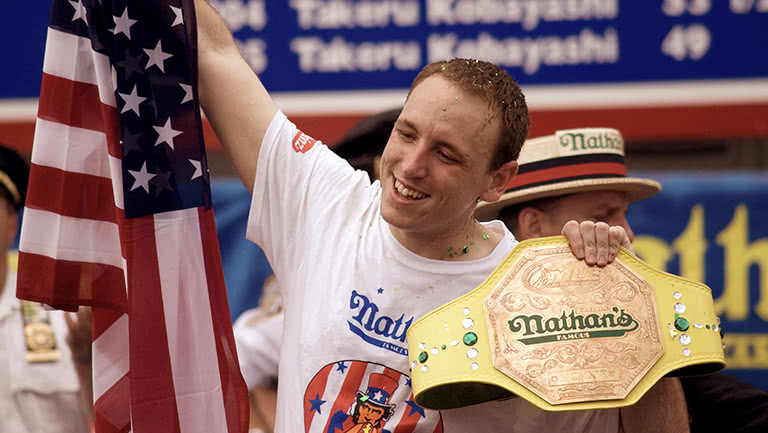 When he's not crushing world records at the Hot Dog Eating Contest, where are you most likely to find Joey Chestnut this summer? (Besides Nathan's Famous, of course.)