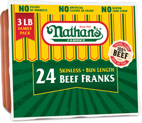 Family Pack Skinless Beef Franks – 2 Lb., 3 Lb.