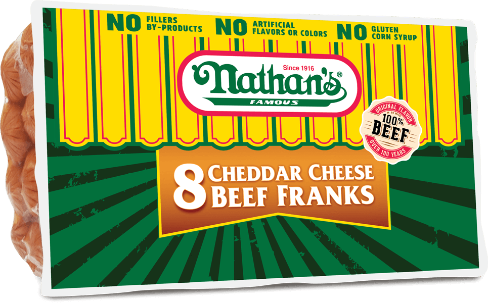 Cheddar Cheese Beef Franks | Nathan's Famous