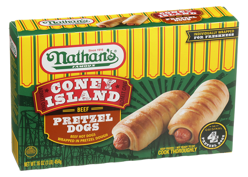 Coney Island Pretzel Dogs Nathan S Famous