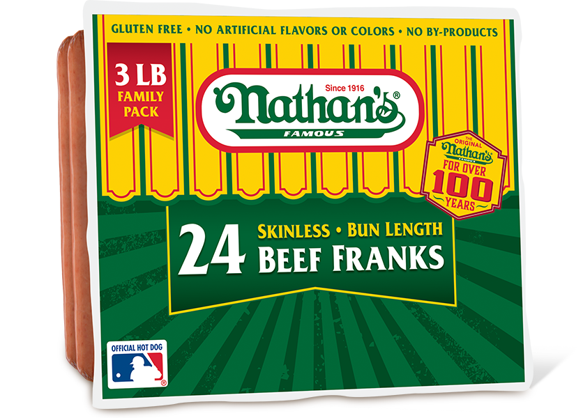 Family Pack Skinless Beef Franks  2 Lb  3 Lb
