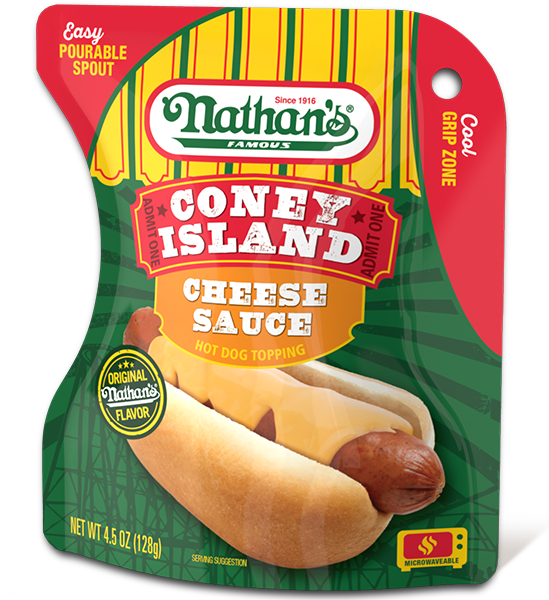 Coney Island Cheese Sauce Hot Dog Topping