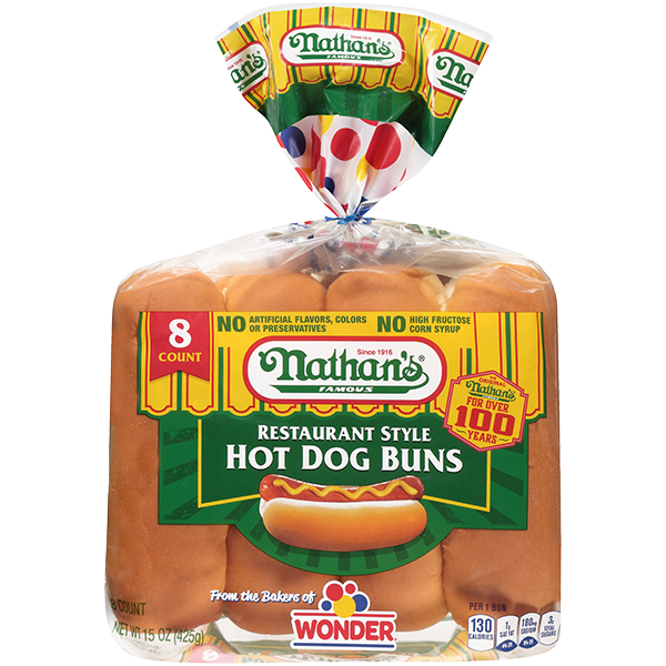 Restaurant Style Hot Dog Buns Nathan S Famous
